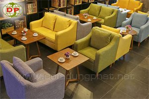 ghế sofa cafe màu sắc nỗi bật NCF-01