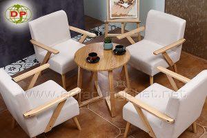 Ghế sofa cafe tay gỗ đẹp NCF 07