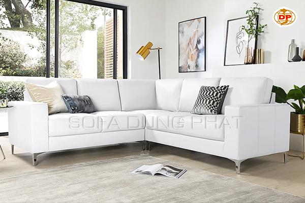sofa da màu trắng